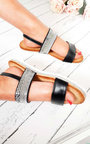 Derya Double Strapped Embellished Sandals  Thumbnail