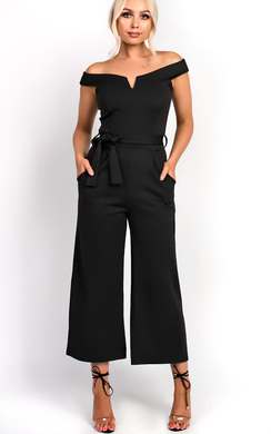 View the Orlanda Tie Waist Wide Leg Jumpsuit online at iKrush