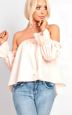 View the Vera Bardot Frill Sleeve Top  online at iKrush