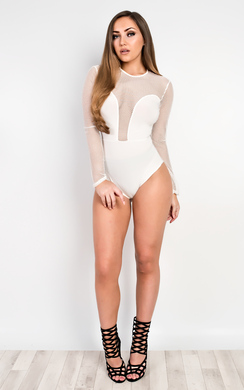 View the Vale Mesh Detail Bodysuit online at iKrush