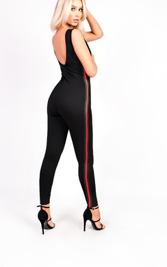 View the Tasha Stripe Stretch Jumpsuit online at iKrush