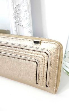 View the Carly Metallic Style Zip Purse online at iKrush