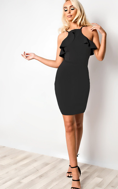 View the Kailyn Frill Bodycon Dress online at iKrush