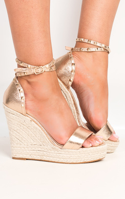 View the Lorilea Stud Strappy Wedge Sandals online at iKrush