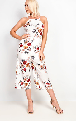 View the Seline Floral Culotte Jumpsuit online at iKrush