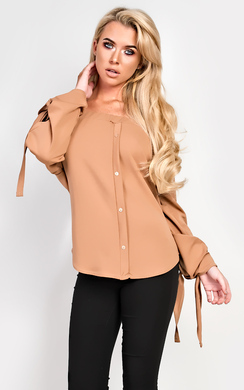 View the Alexa Off Shoulder Buttoned Top online at iKrush