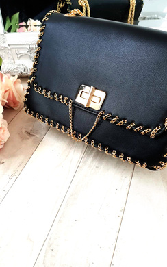 View the Pommy Gold Chain Shoulder Bags online at iKrush