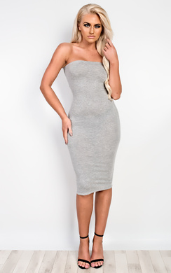 View the Jolana Bandeau Basic Bodycon Dress online at iKrush