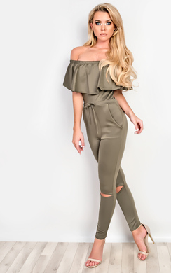 View the Sofia Off Shoulder Jumpsuit online at iKrush