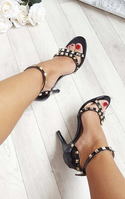 View the Nina Studded Patent Heels online at iKrush