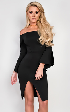 View the Macy Off Shoulder Bodycon Dress online at iKrush