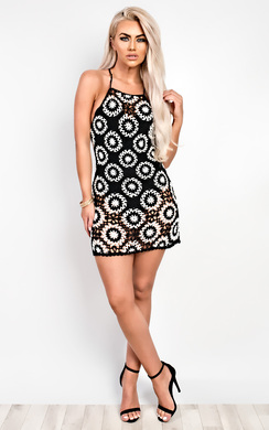 View the Ava Crochet Bodycon Dress online at iKrush