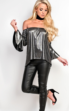 View the Vanessa Off Shoulder Metallic Top  online at iKrush