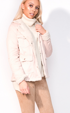 View the Raina Faux Fur Shearling Jacket online at iKrush