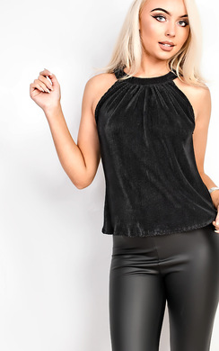 View the Lolah Frill Ribbed Top online at iKrush