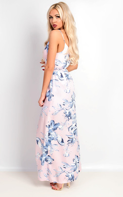 View the Eliza Strappy Wrap Floral Maxi Dress online at iKrush