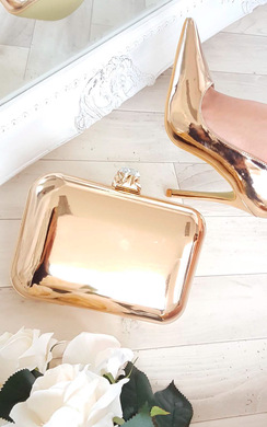 View the Niley Metallic Clutch Bag online at iKrush