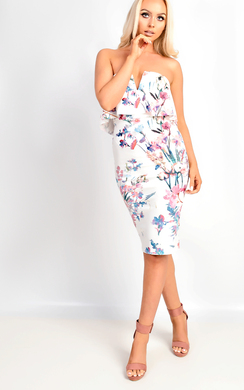 View the Anike Floral Bandeau Dress online at iKrush