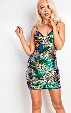 View the Kady Sequin Bodycon Dress online at iKrush