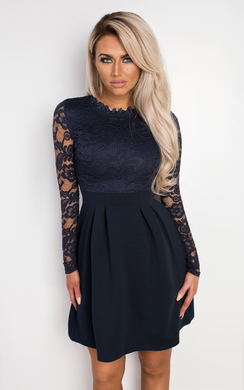 View the Nika Lace Skater Dress online at iKrush