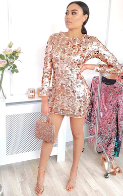 View the Verena Sequin Bodycon Dress online at iKrush
