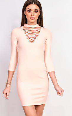 View the Leila Bodycon Dress online at iKrush