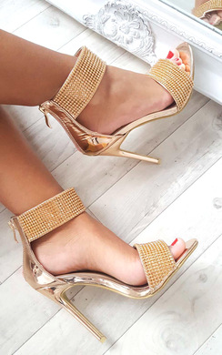 View the Donatella Diamante Strap Heels online at iKrush