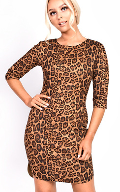 View the Kass Leopard Print Dress online at iKrush
