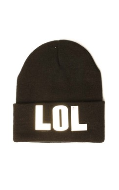View the LOL Black Beanie Hat online at iKrush