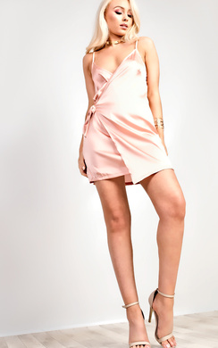 View the Resmi Satin Wrap Dress online at iKrush