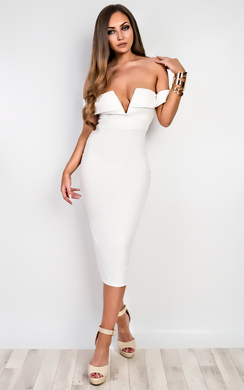 View the Raelyn Off Shoulder Bodycon Dress online at iKrush