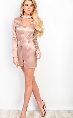 View the Sahara Satin Playsuit online at iKrush