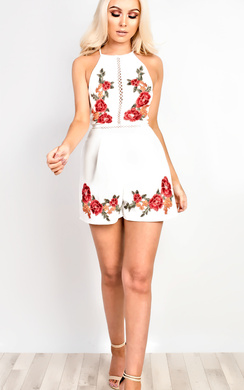 View the Della Embroidered Playsuit online at iKrush