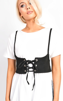 View the Imiah Lace Up Corset Belt online at iKrush