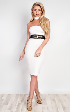 View the Pavla Choker Neck Bodycon Dress online at iKrush