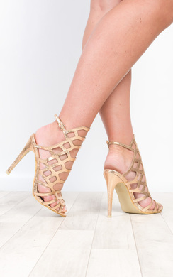 View the Arla Cage Detail High Heels  online at iKrush