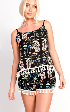 View the Vera Floral Tassel Crop Co-ord  online at iKrush