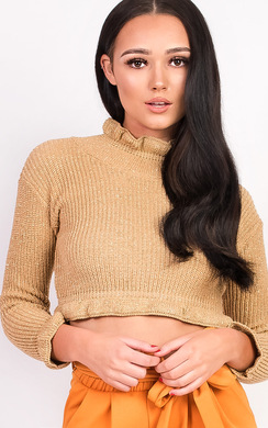 View the Karolina Knitted Cropped Jumper online at iKrush