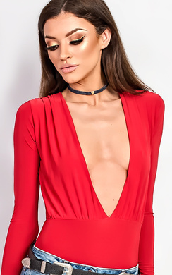 View the Tula Red Slinky Bodysuit online at iKrush