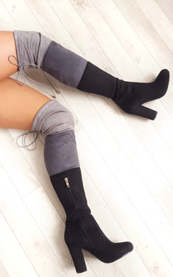 View the Keira Faux Suede Knee High Boots  online at iKrush