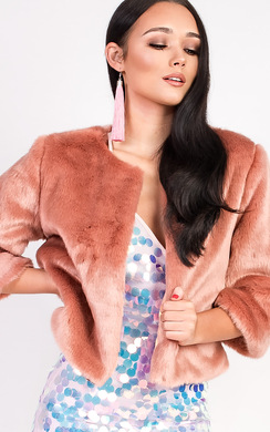 View the Dionne Faux Fur Jacket online at iKrush