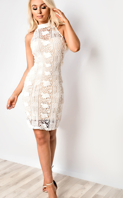 View the Portia Crochet Bodycon Dress online at iKrush