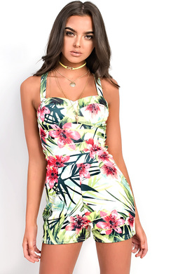 View the Siana Floral Playsuit online at iKrush