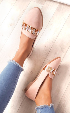 View the Sherla Embellished Flat Pump Shoe online at iKrush