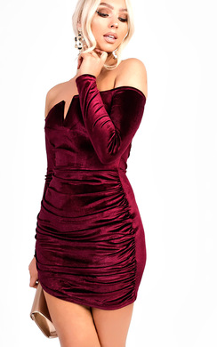 View the Amerie Velvet Bodycon Dress online at iKrush
