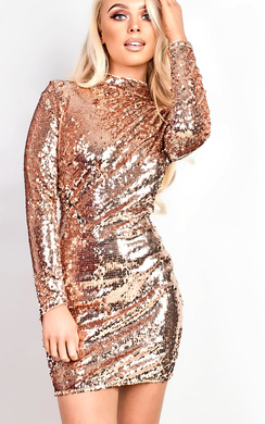 View the Amia Sequin Bodycon Dress online at iKrush