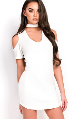 View the Zariah Choker Neck Bodycon Dress online at iKrush