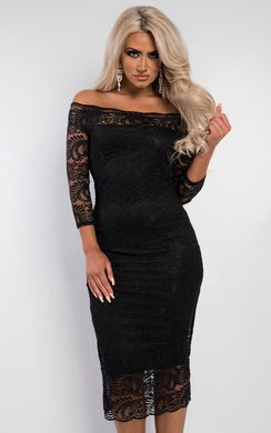 View the Finn Off Shoulder Lace Dress online at iKrush