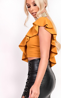 View the Stella Frill Crop Top online at iKrush