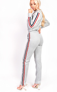 View the Kimmi Stripe Slim Fit Tracksuit online at iKrush